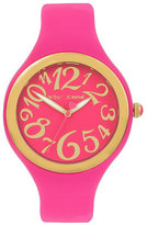Betsey Johnson Sporty Betsey Pink Silicone Boxed Watch
