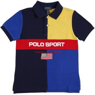 Ralph Lauren Color Block Cotton Piquet Polo