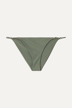 JADE SWIM Aria Bikini Briefs - Army green