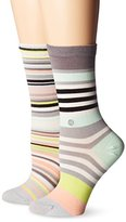 Stance Women's Yachting Colorful Striped Everyday Crew Sock