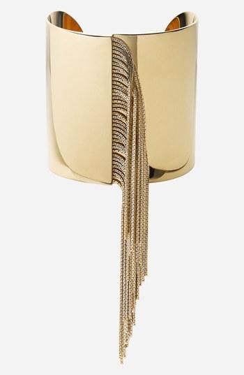 MICHAEL Michael Kors Michael Kors 'Seaside Luxe' Fringed Cuff Gold