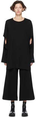 Yohji Yamamoto Regulation Black R-LS Hole Open T-Shirt