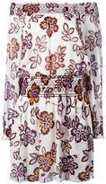 Tory Burch floral print off-shoulders dress - women - Silk/Polyester - 4