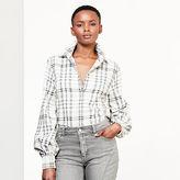 Ralph Lauren Plaid Bishop-Sleeve Shirt