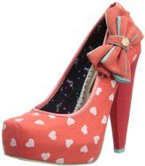Babycham Womens Fern Hearts Court Shoes