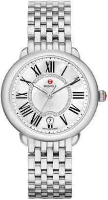 Michele 36mm Serein Mid Stainless Steel Diamond-Dial Watch
