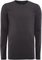 Lindbergh Men's Long sleeve raw edge tee