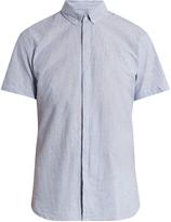 Oliver Spencer Aston short-sleeved cotton and linen-blend shirt