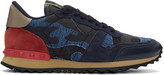 Valentino Blue Camo Rockrunner Sneakers