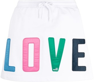 Love Moschino Love patch skirt