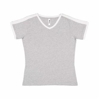 Marky G Apparel Women's Soccer Ringer Fine Jersey T-Shirt