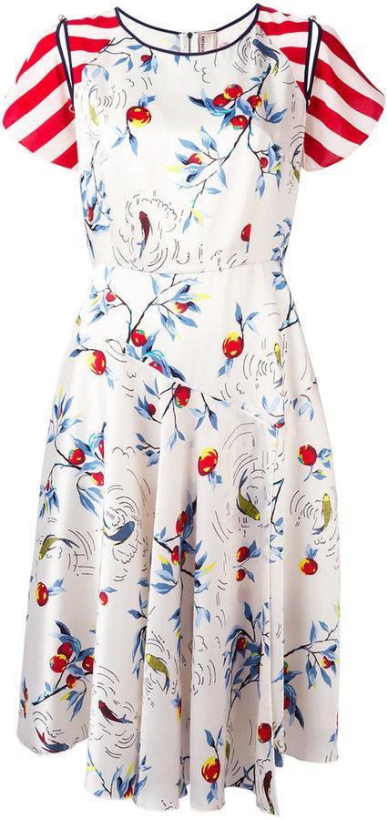 Antonio Marras multi-print flared dress