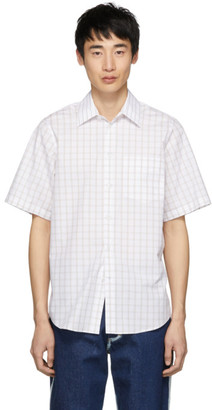 Stella McCartney White and Brown Check Shirt