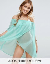 Asos Beach Off Shoulder Wrap Front Cover Up