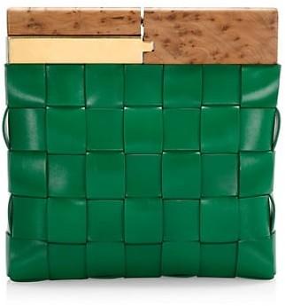 Bottega Veneta Small Snap Leather Clutch