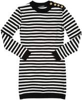 Balmain Striped Cotton Sweater Dress