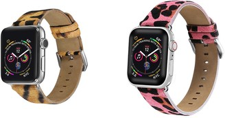 Posh Tech Multi Animal Print Leather Band for 42mm/44mm Apple Watch Series 1, 2, 3, 4, 5 - Pack of 2