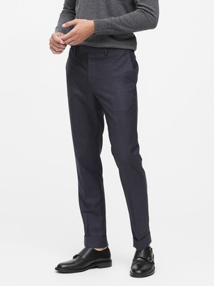 Banana Republic Slim Tapered Houndstooth Wool Suit Trouser
