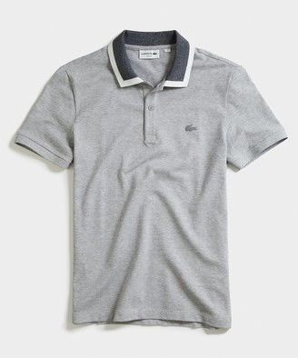 Lacoste Short Sleeve Solid Stretch Pique Polo in Grey