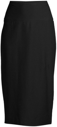 Eileen Fisher Stretch Crepe Midi Pencil Skirt
