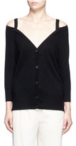 Theory 'Saline B' cold shoulder cashmere cardigan