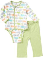 Magnificent Baby Hippo Friends Bodysuit Pant Set (Baby) - Green-3 Months