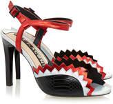 Kat Maconie Gretchen Black and Red Sandal