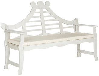 One Kings Lane Pagoda Bench - White