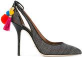 Dolce & Gabbana pom-pom embellished pump - women - Straw/Leather - 35