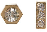 Jessica Simpson Rhinestone Geometric & Bar Stud Earrings Set - Set of 2