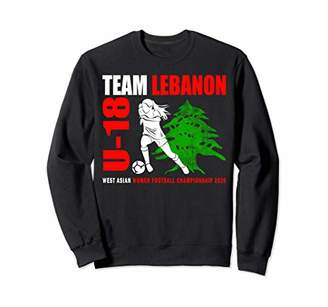 Lebanese U-18 Football Team 2020 Women Girls Soccer Fan Gift Sweatshirt