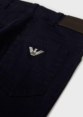 Emporio Armani Jeans In Stretch Cotton Gabardine
