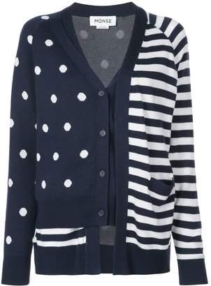 Monse Dot & Stripe Double Cardigan