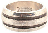 Tiffany & Co. Sterling Silver 1995 Grooved Band Ring Size 6.5 FTY3246 JHL