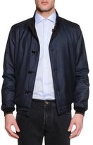 Stefano Ricci Reversible Silk Bomber Jacket, Blue/Brown