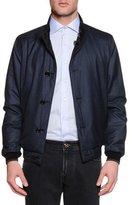 Stefano Ricci Reversible Silk Bomber Jacket, Blue/Brown
