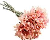 Transer Artificial Silk Fake Flowers Chrysanthemu Wedding Bouquet Bridal Decor (Pink)
