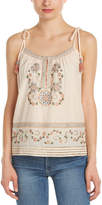 Love Sam Britney Embroidered Tank