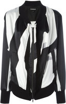 Ann Demeulemeester striped bomber jacket