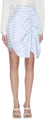 Leal Daccarett 'Flippa' bow front stripe sequin mini skirt