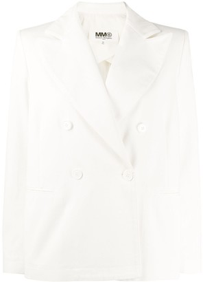 MM6 MAISON MARGIELA Double-Breasted Cotton Blazer
