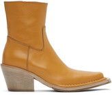 Thumbnail for your product : Acne Studios Tan Leather Ankle Boots