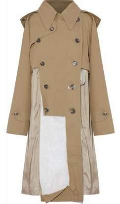 Maison Margiela Distressed Paneled Cotton-twill Hooded Trench Coat