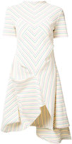 J.W.Anderson multi stripe asymmetric dress - women - Cotton - S