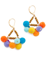 Rebecca Minkoff Savanna Pom Pom Chandelier Earrings