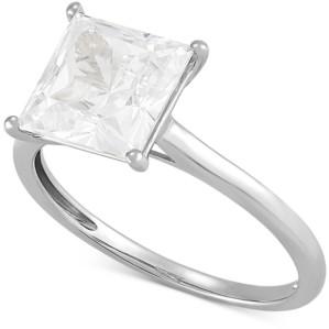 Arabella Swarovski Zirconia Princess Ring in 14k White Gold