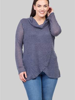 M&Co Izabel Curve roll neck knitted top