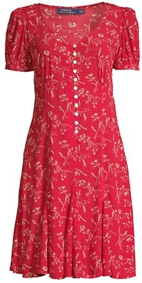 Polo Ralph Lauren Printed Short-Sleeve Dress