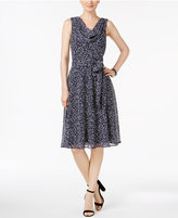 Jessica Howard Printed Draped Dress