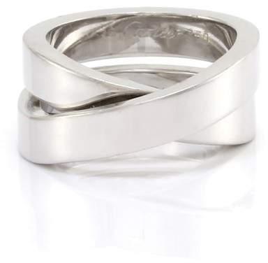 Cartier Nouvelle Vague Paris 18K White Gold Ring Size 4